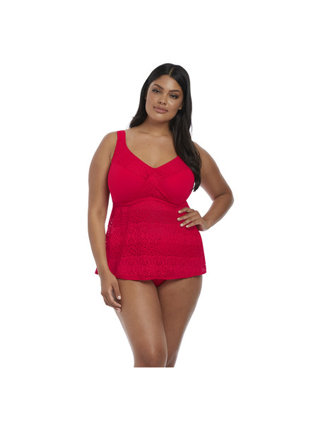Elomi Indie Wirefree Twist Front Tankini Swim Top