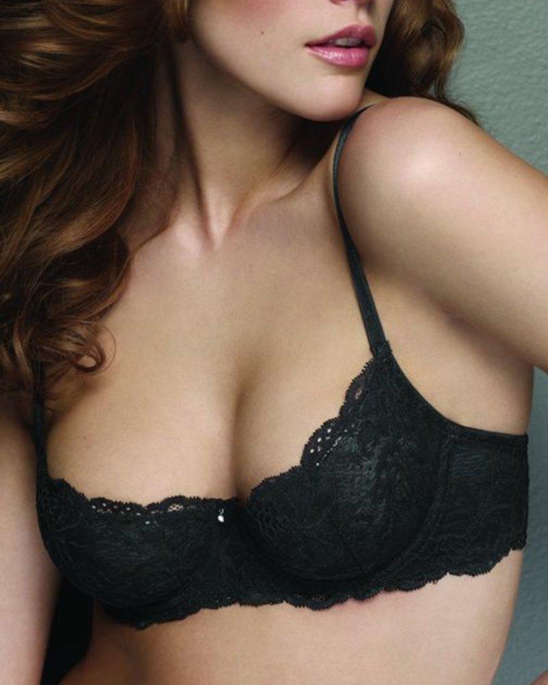 Montelle Flirt Demi Bra - Black