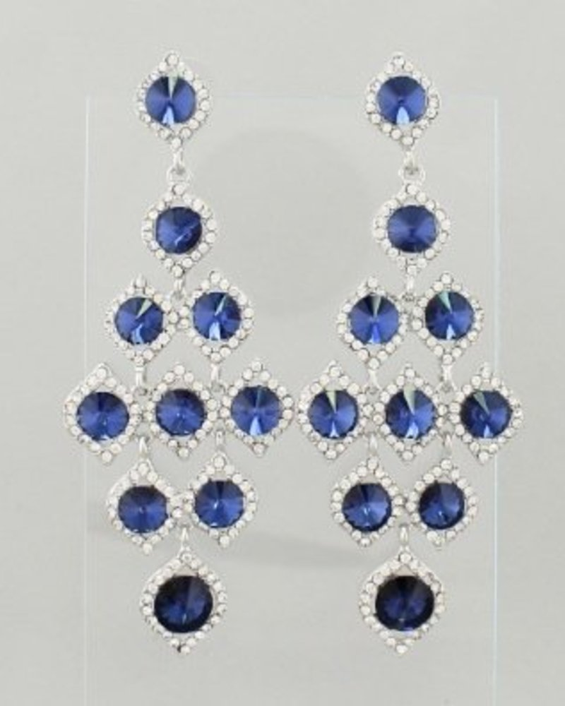Rhinestone Dot Earrings