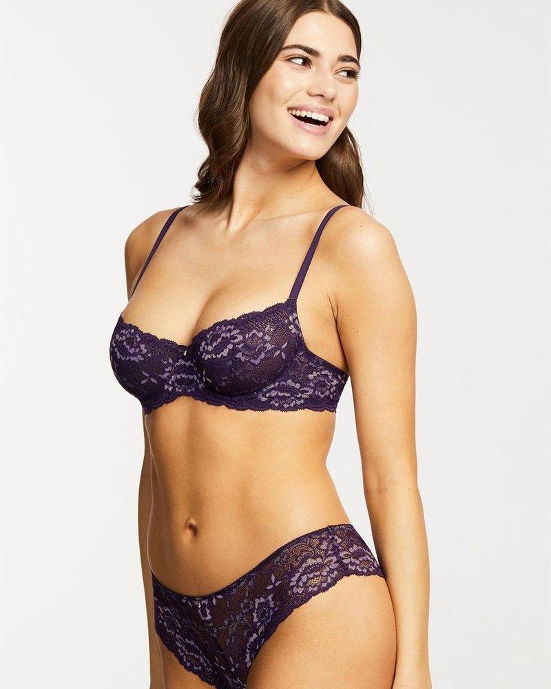 Montelle Montelle Flirt Lace Demi BraMontelle Flirt Lace Demi Bra - Purple Velvet