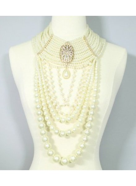 Gatsby Pearl Necklace Set