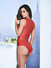 ISABEL RED LACE TEDDY