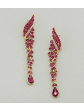 Pave Teardrop Earrings