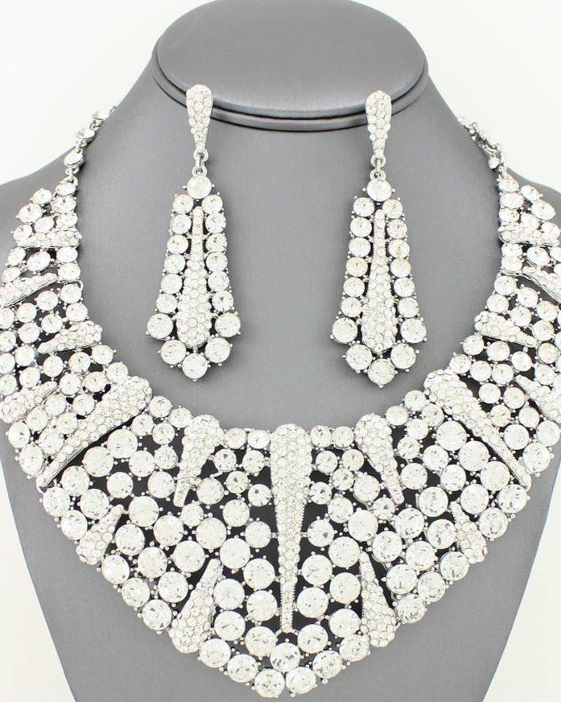 Large Collar Necklace Set