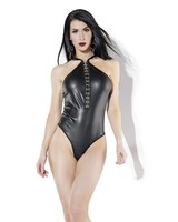 Coquette Wet Look Dressed in Chains Teddy