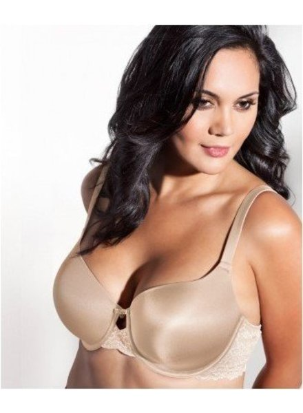 Curvy Couture Essentials Lace Shine T-Shirt Bra