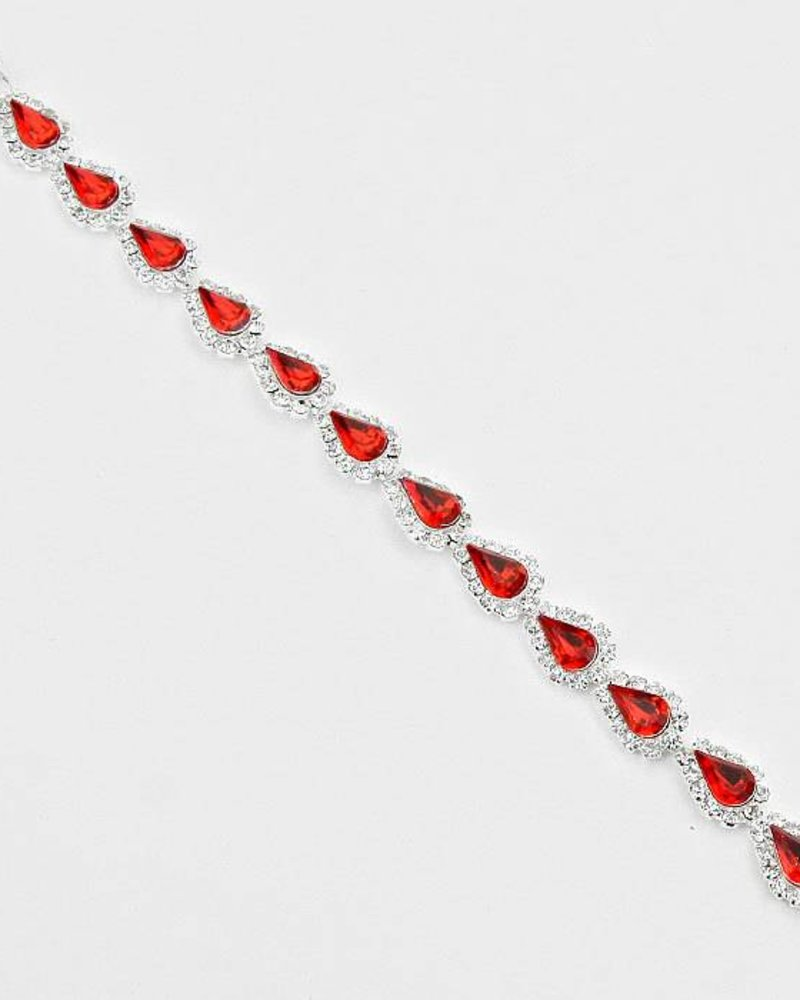 Teardrop Rhinestone Link Evening Bracelet