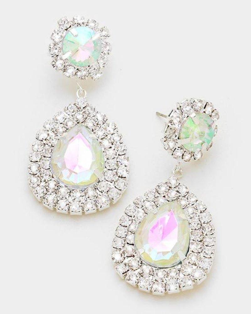Teardrop Evening Earrings