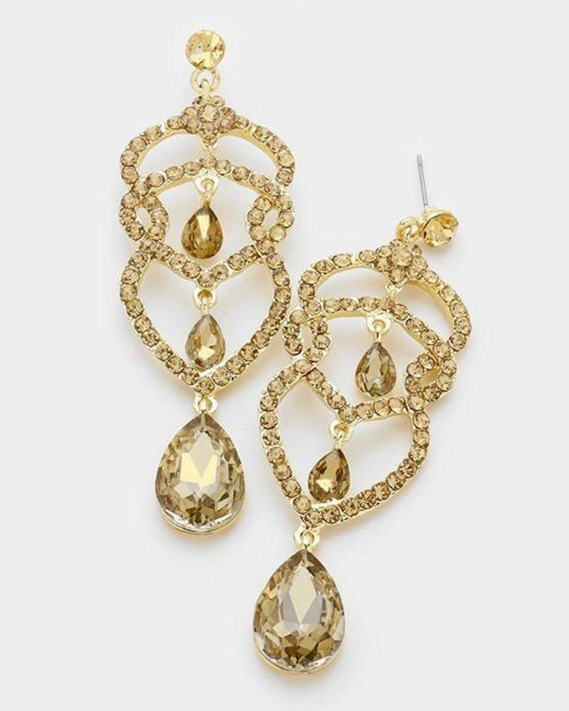 Rhinestone Teardrop Earrings