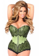MINT BROCADE STEEL BONED CORSET