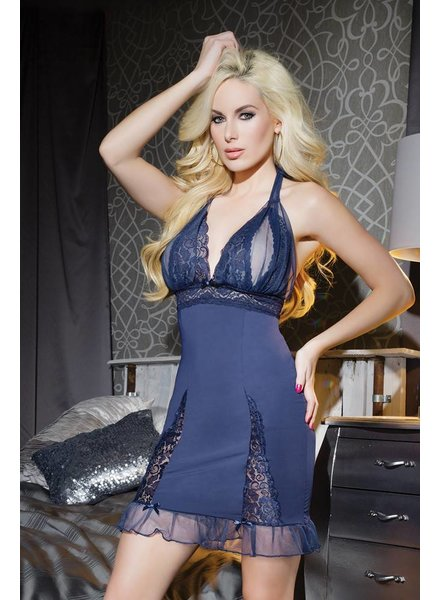 Coquette Sheer Navy Chemise