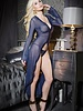 Coquette Sheer Navy Robe