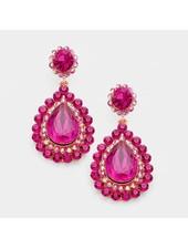 Crystal Rhinestone Marquise Drop  Earrings