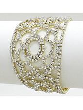 Rhinestone Flower Bracelet