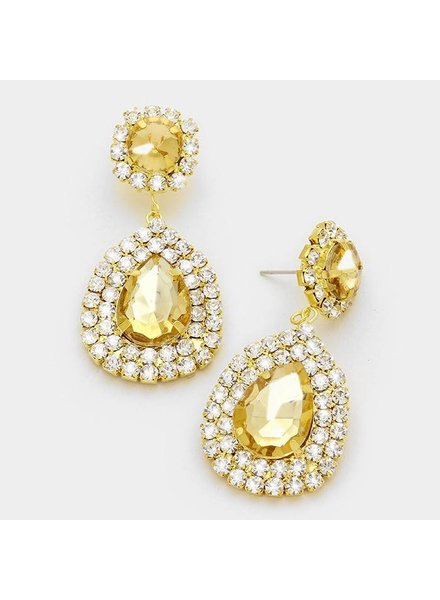 Large Crystal Teardrop Earring