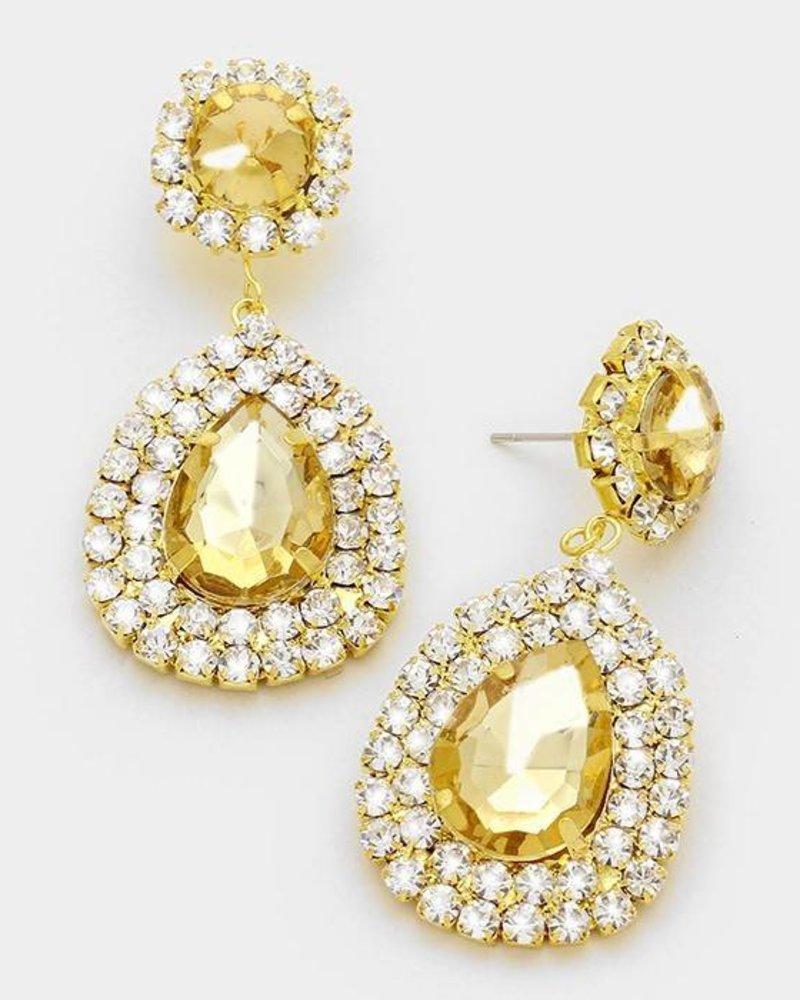 Large Crystal Teardrop Earring
