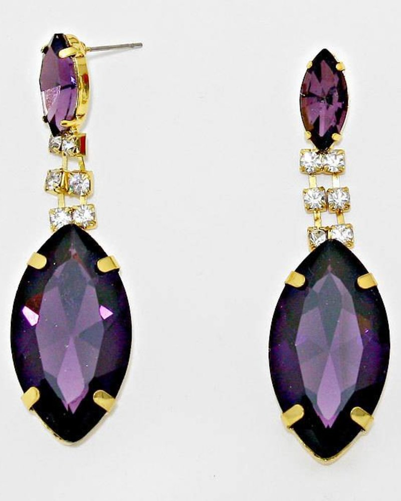 Marquise Rhinestone Drop Earrings