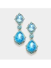 Oval Crystal Drop Earring