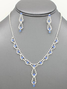 585c6f5631527 Dainty Rhinestone Necklace Set