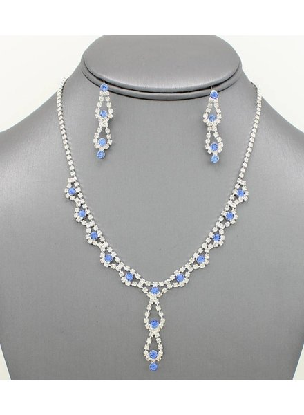 Dainty Rhinestone Necklace Set