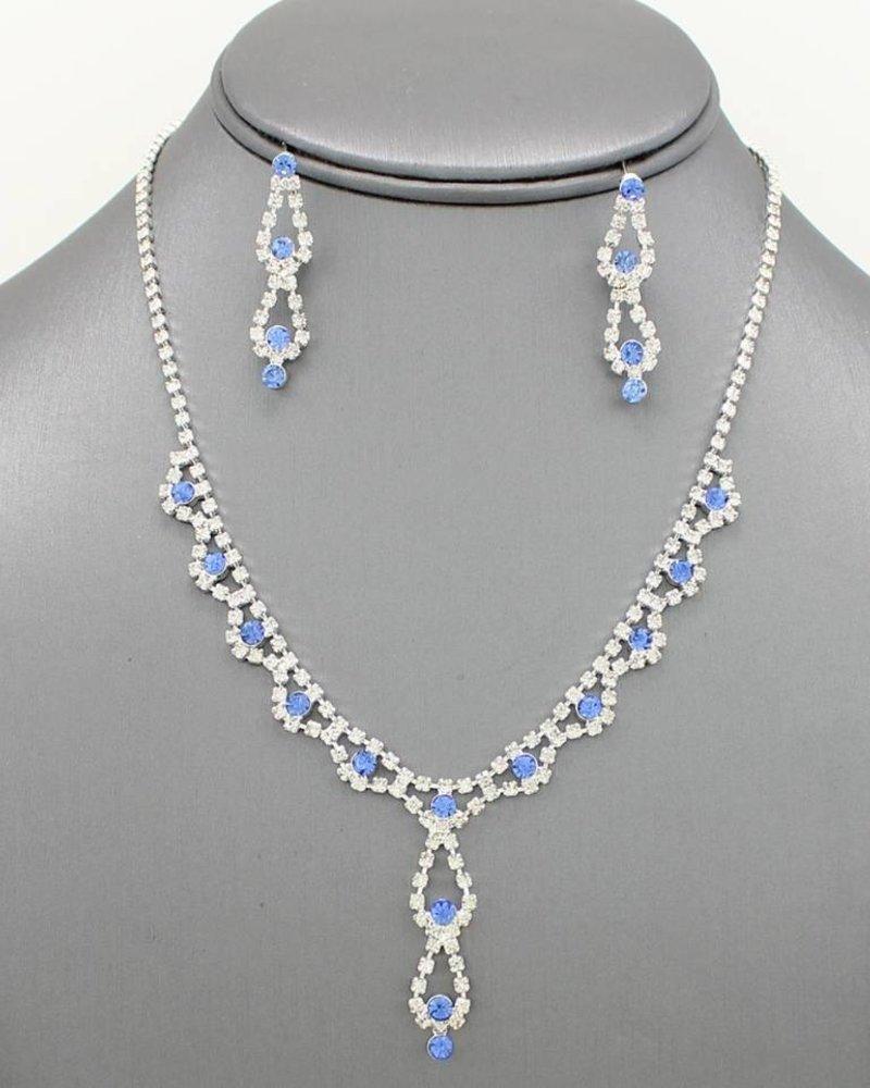 Dainty Rhinestone Necklace Set