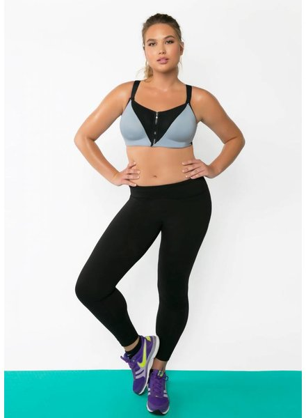 Curvy Couture ZIP FIT UNDERWIRE SPORTS BRA
