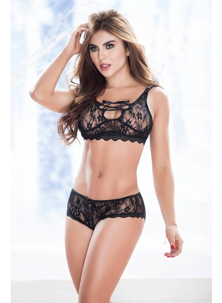 Mapale LACE BRALETTE AND PANTY SET