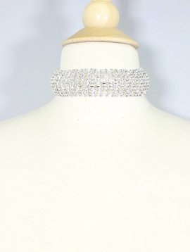 0c00615c1b972 CRYSTAL RHINESTONE CHOKER NECKLACE