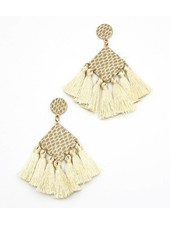 FAUX LEATHER SNAKE SKIN TASSEL DROP EARRINGS