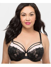 Curvy Couture Tulip Strappy Lace Push Up Bra