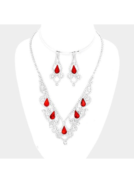 Marquise Cubic Zirconia Evening Necklace