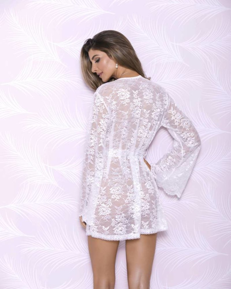 Butterfly Sleeve Lace Robe Angie Davis