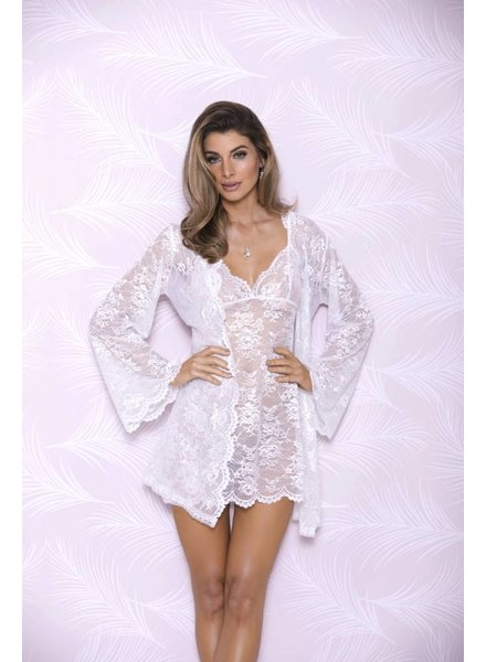 iCollection BUTTERFLY SLEEVE LACE ROBE