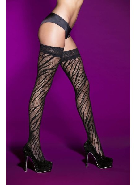 Hauty ZEBRA THIGH HIGH WITH LACE TOP
