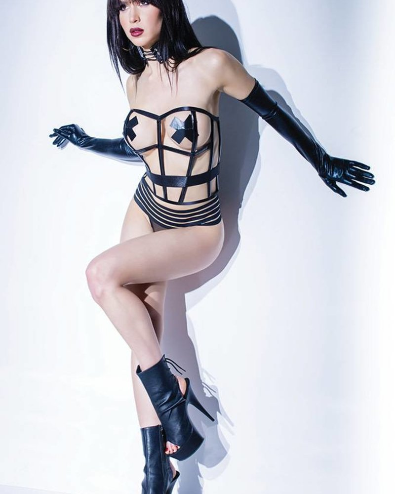 Coquette CAN'T BE TAMED CAGED CORSET