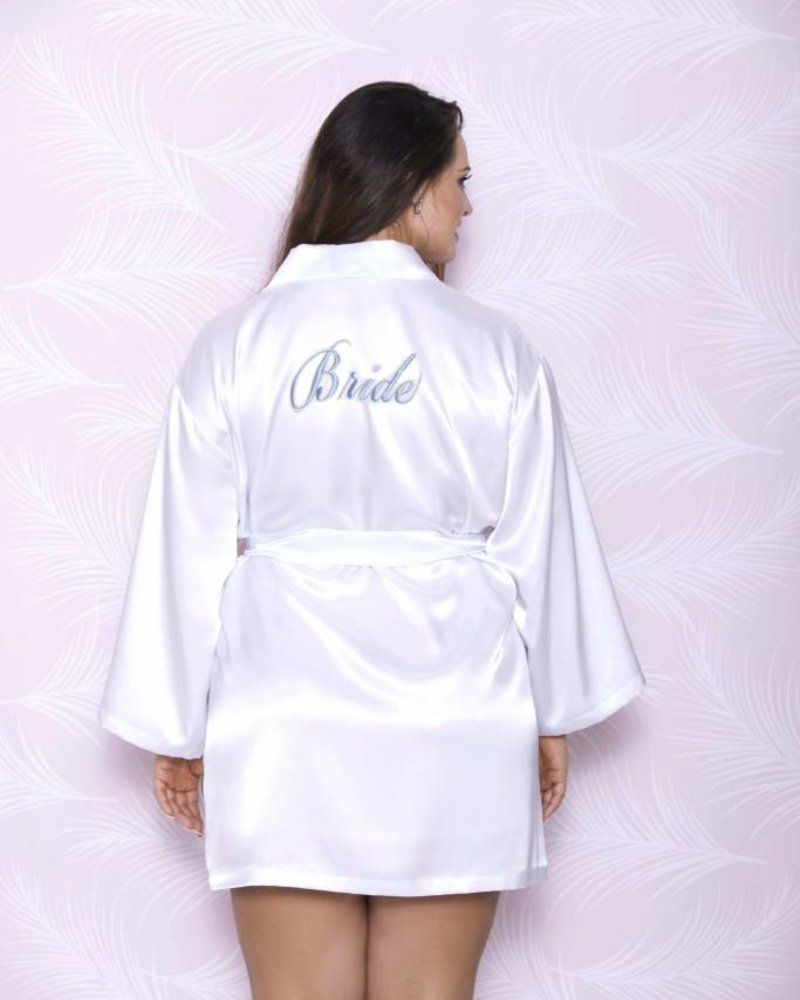 iCollection WHITE SATIN BRIDE ROBE