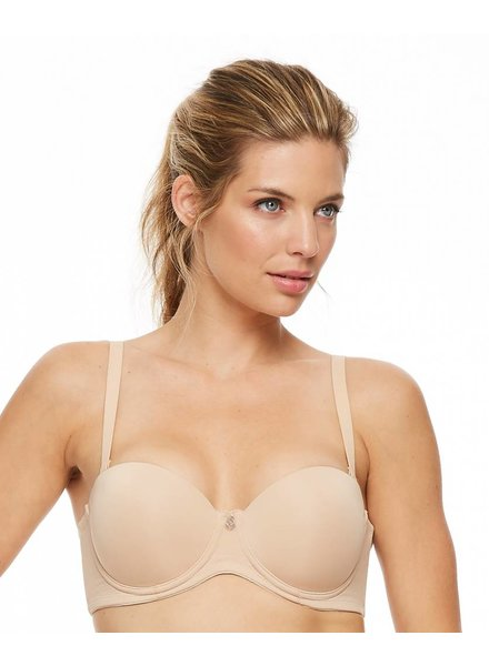 Montelle Montelle Strapless Multi-Way Push Up Underwire Bra