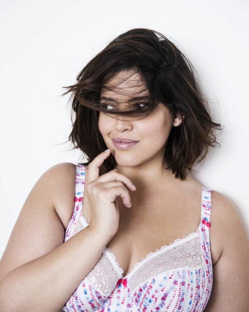 Elomi Kim Underwire Stretch Lace Plunge Bra