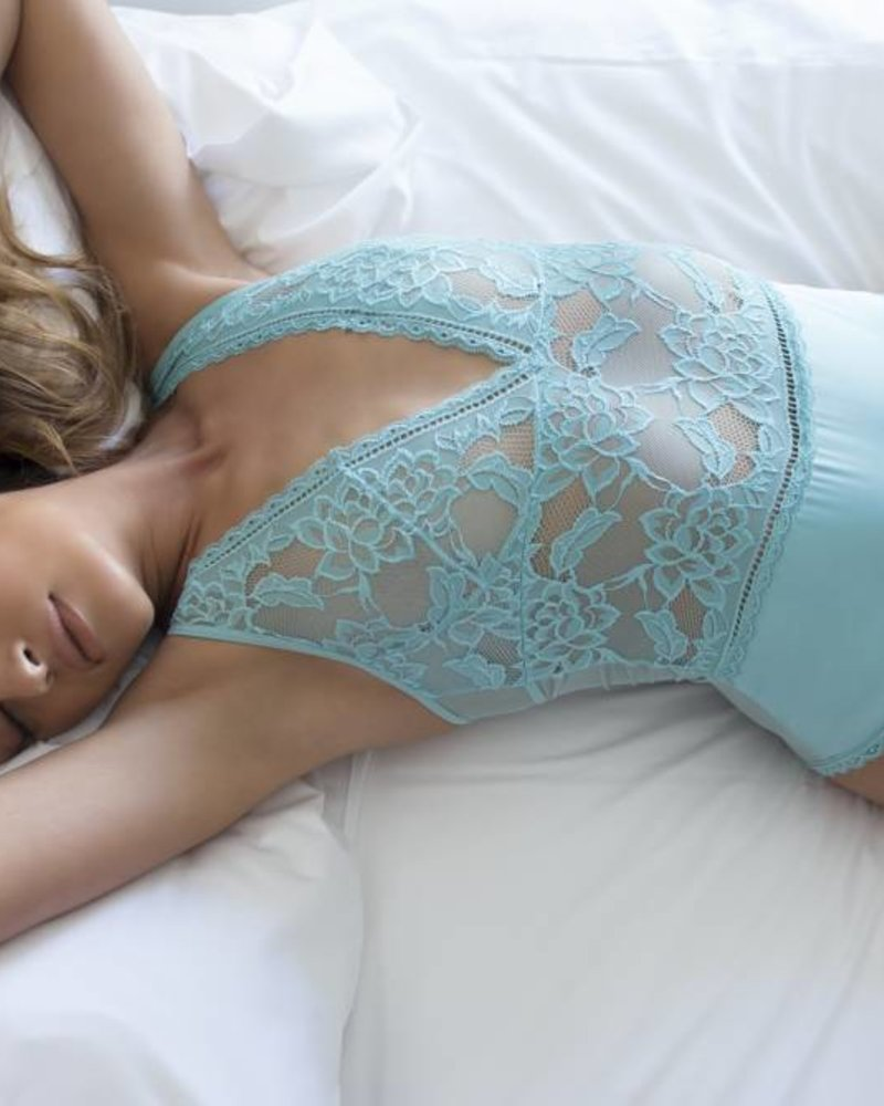 VERONICA SATIN AND LACE TEDDY