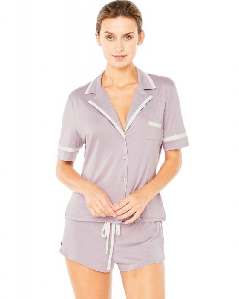 Cosabella BELLA SHORT SLEEVE TOP & BOXER SET
