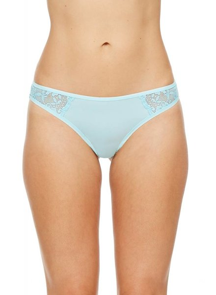 Montelle Low Rise Lace Cheeky Thong in Pearly Sea
