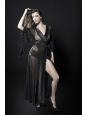 NATALIE SATIN AND LACE ROBE