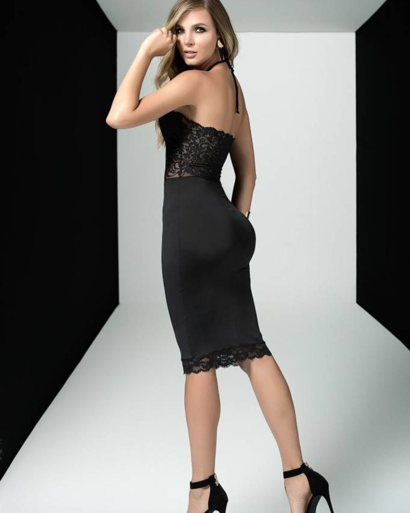 LACY NIGHT BLACK DRESS