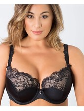 Curvy Couture Tulip Lace Push Up Bra