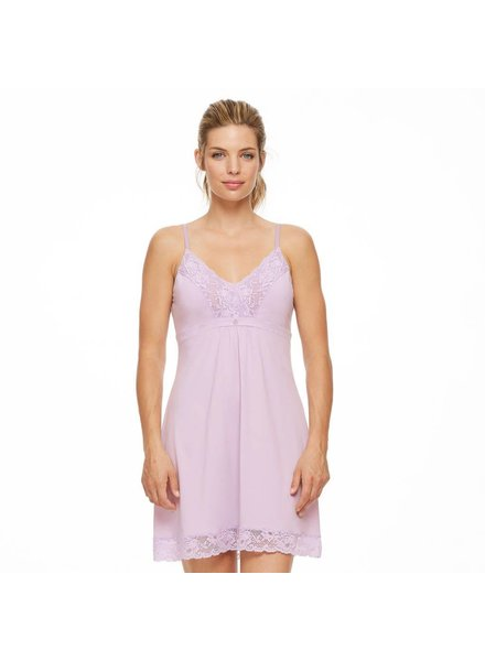 Montelle Lace And Microfiber Integrated Support Chemise