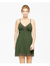 Montelle LACE AND MICROFIBER INTEGRATED SUPPORT CHEMISE FOREST NIGHT