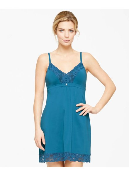 Montelle LACE AND MICROFIBER INTEGRATED SUPPORT CHEMISE MORROCAN