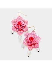 FLOWER EARRINGS - PINK