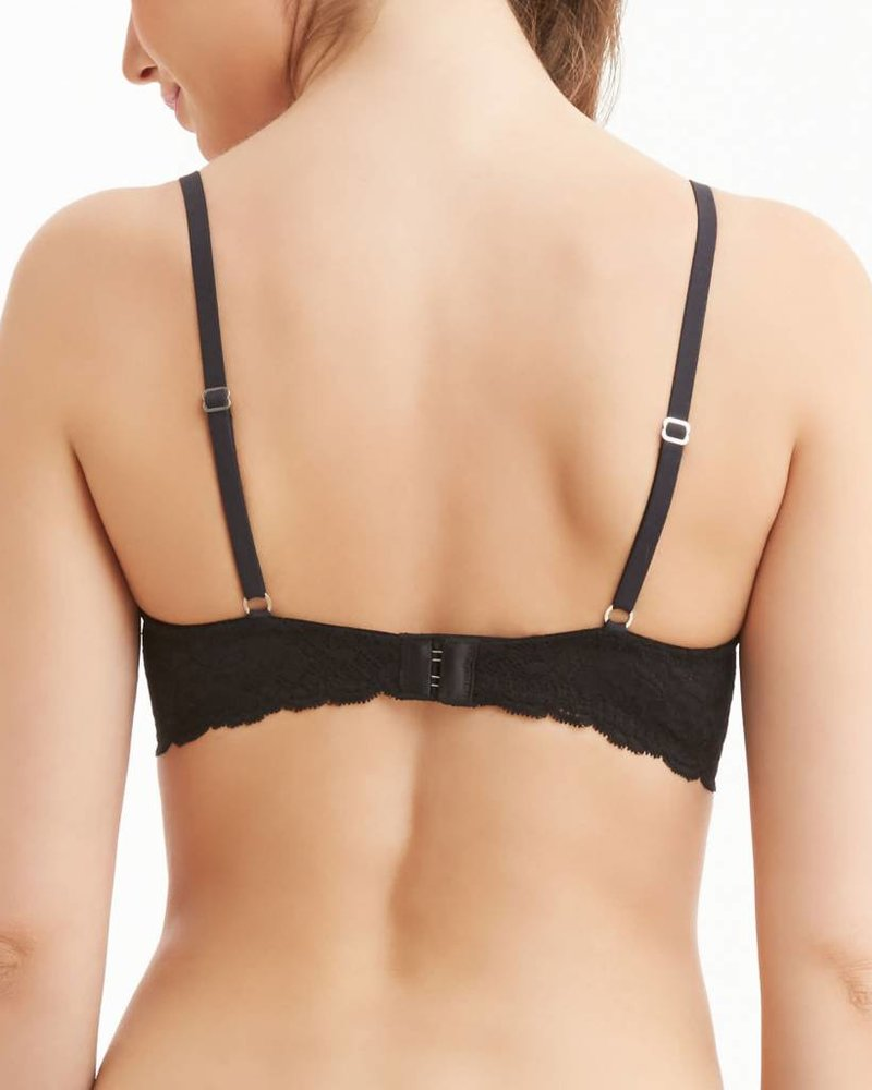 Montelle Essentials Flirt Demi Lace Bra - Nude & Black