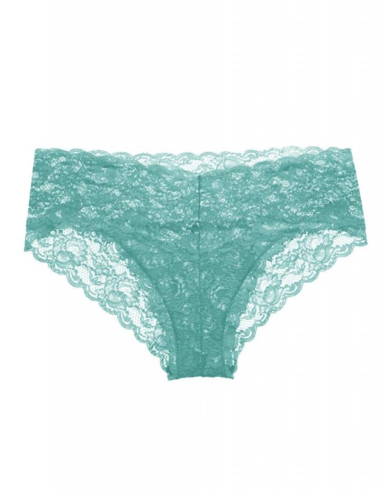 Cosabella NEVER SAY NEVER HOTTIE™ LACE LOWRIDER HOTPANT - TURQUOISE